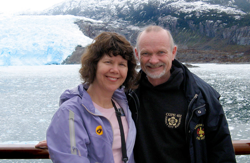 Marc and Mirja on an Antarctica cruise