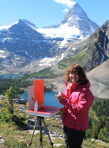 Mairja Vahala plein air painting