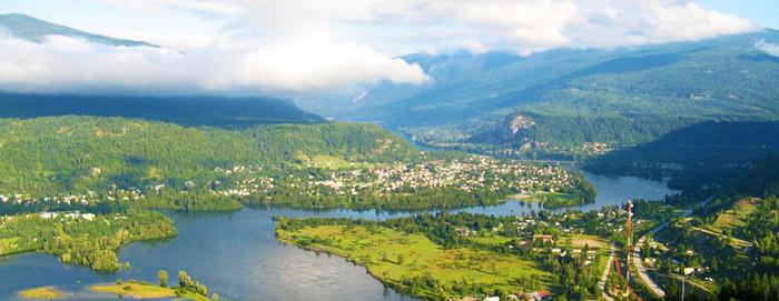 View of Castlegar, BC
